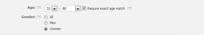 Facebook Marketing on Age