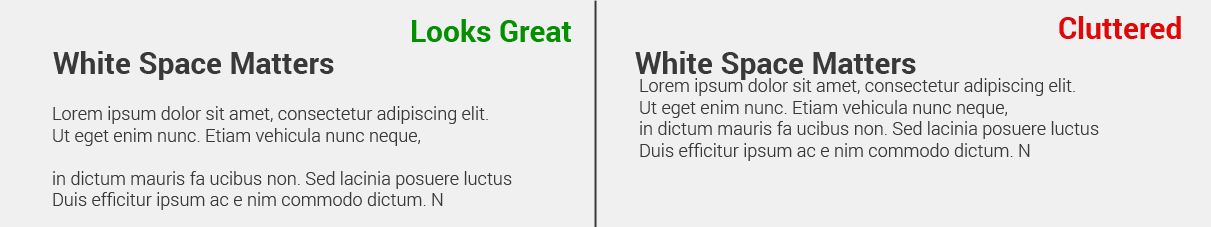 white space matters